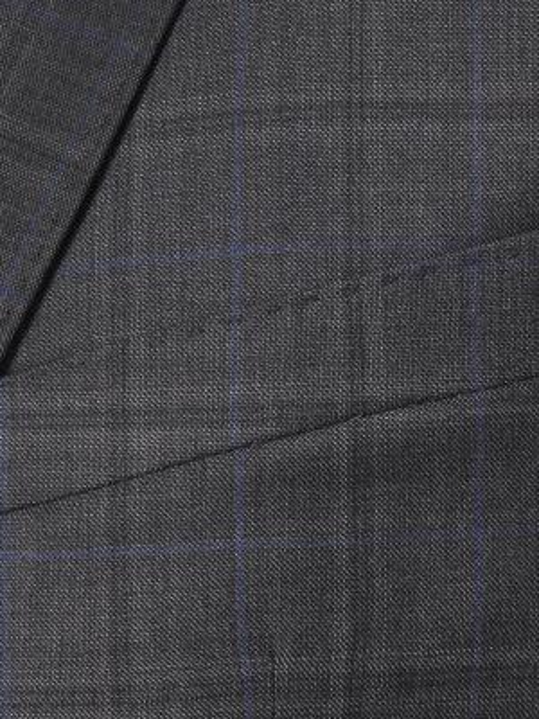 Carl Gross - Carl Gross Loro Piana Tasmanian Süper 150'S Gri Kareli Yün Takım Elbise (1)