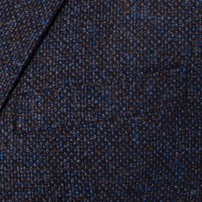 Carl Gross - Carl Gross Mavi Kahve Kuş Gözü Yün İpek Cashmere Ceket (1)