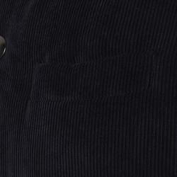 Carl Gross Navy Blue Velvet Hooded Waistcoat - Thumbnail