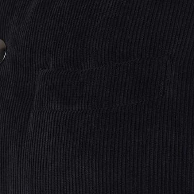 Carl Gross - Carl Gross Navy Blue Velvet Hooded Waistcoat (1)