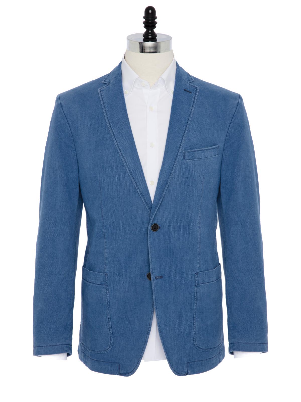 Carl Gross Orta Mavi Yarım Astar Ceket
