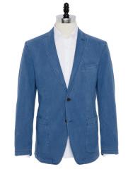 Carl Gross - Carl Gross Orta Mavi Yarım Astar Ceket