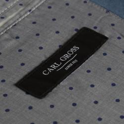Carl Gross Orta Mavi Yarım Astar Ceket - Thumbnail