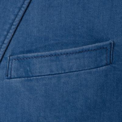 Carl Gross - Carl Gross Orta Mavi Yarım Astar Ceket (1)