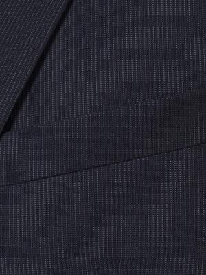 Carl Gross - Carl Gross Reda Süper 100'S K.Lacivert Çizgili Yün Takım Elbise (1)