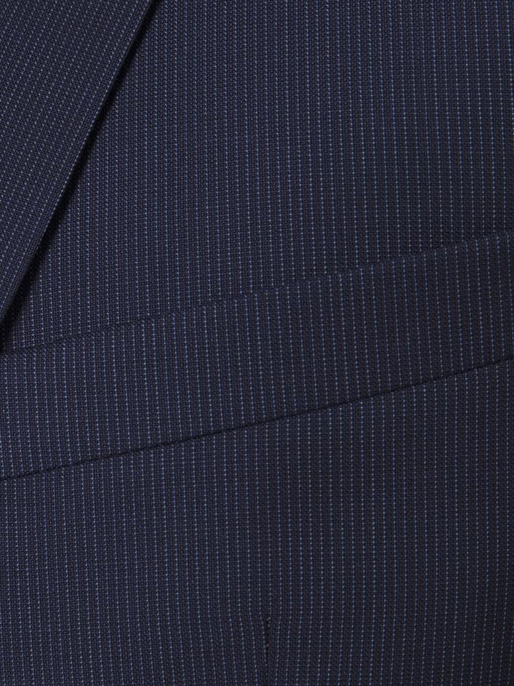 Carl Gross Reda Süper 110'S A.Lacivert Çizgili Yün Takım Elbise
