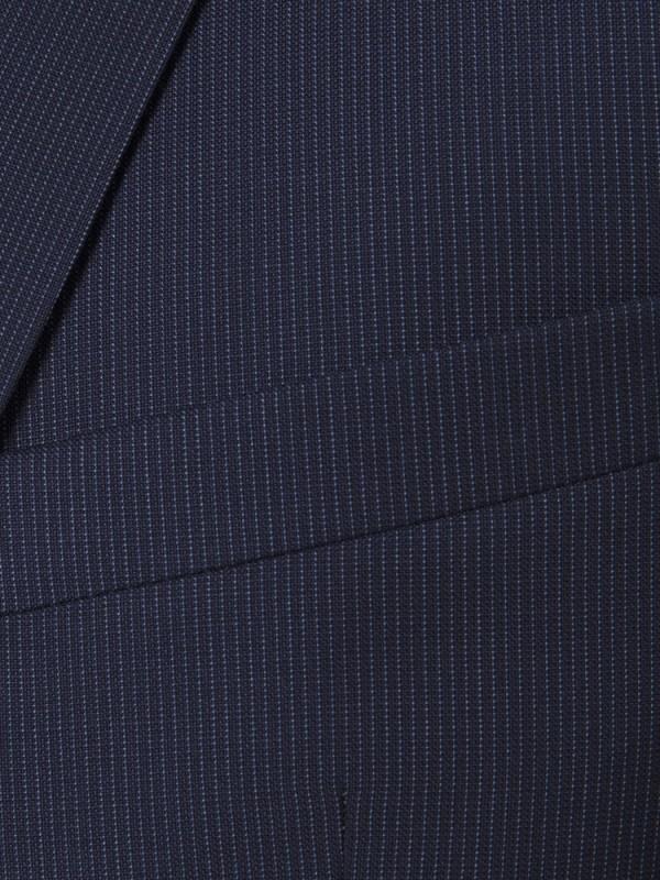Carl Gross - Carl Gross Reda Süper 110'S A.Lacivert Çizgili Yün Takım Elbise (1)