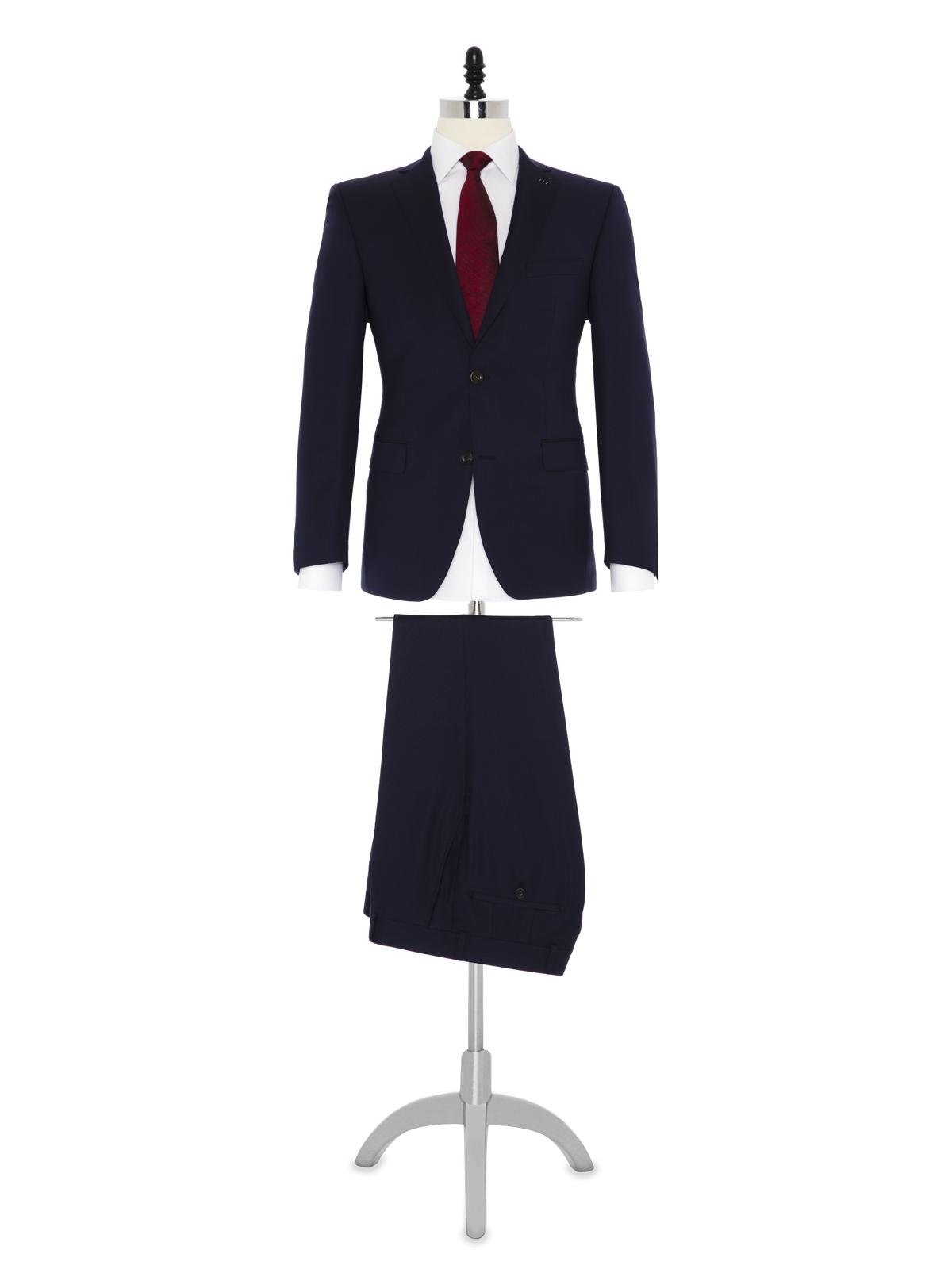 Carl Gross Lacivert Dokulu Takım Elbise