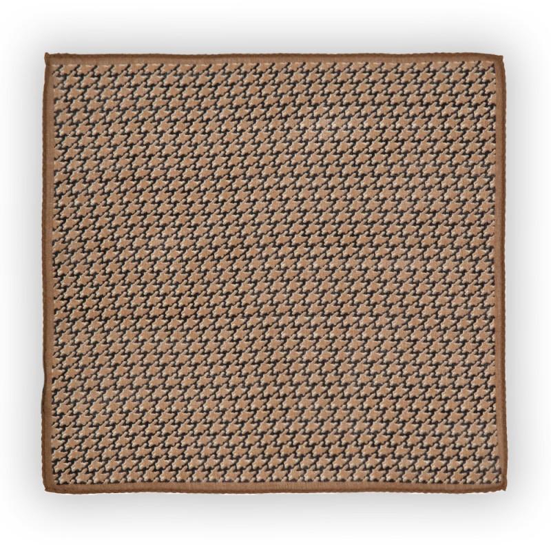 Cerruti - Cerruti Beige Brown Black Pattern Wool Handkerchief
