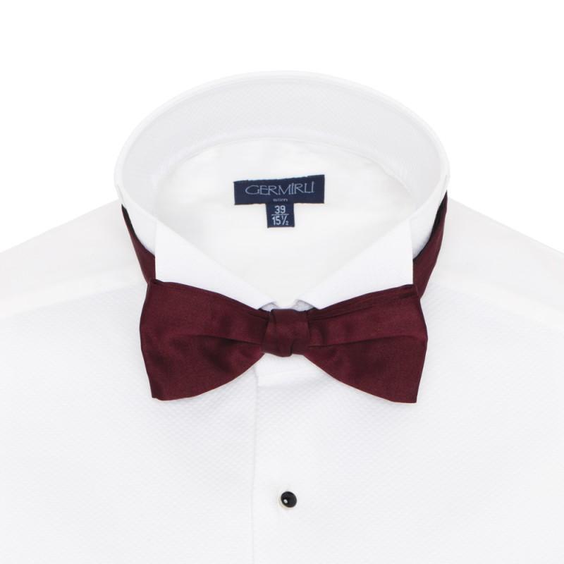 Cerruti - Cerruti Burgundy Silk Bow Tie
