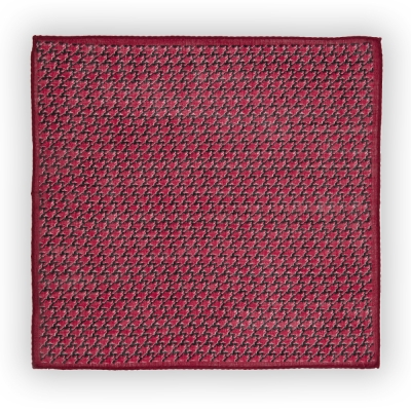 Cerruti - Cerruti Burgundy Black Pattern Wool Handkerchief