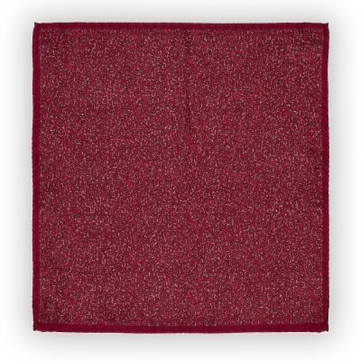 Cerruti - Cerruti Burgundy Black Grey Pattern Silk Handkerchief