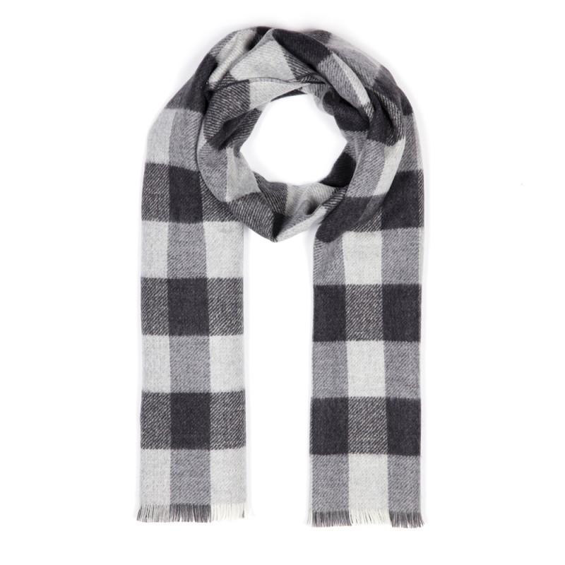 Cerruti - Cerruti Smoke Grey Check Wool Scarf