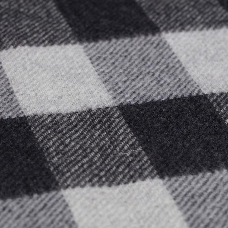Cerruti - Cerruti Smoke Grey Check Wool Scarf (1)