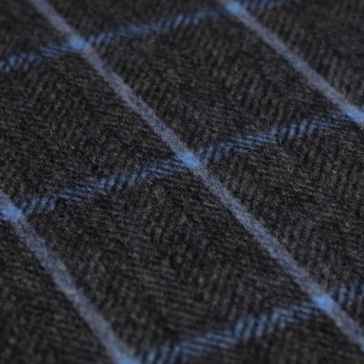 Cerruti - Cerruti Grey Blue Check Cashmere Scarf (1)