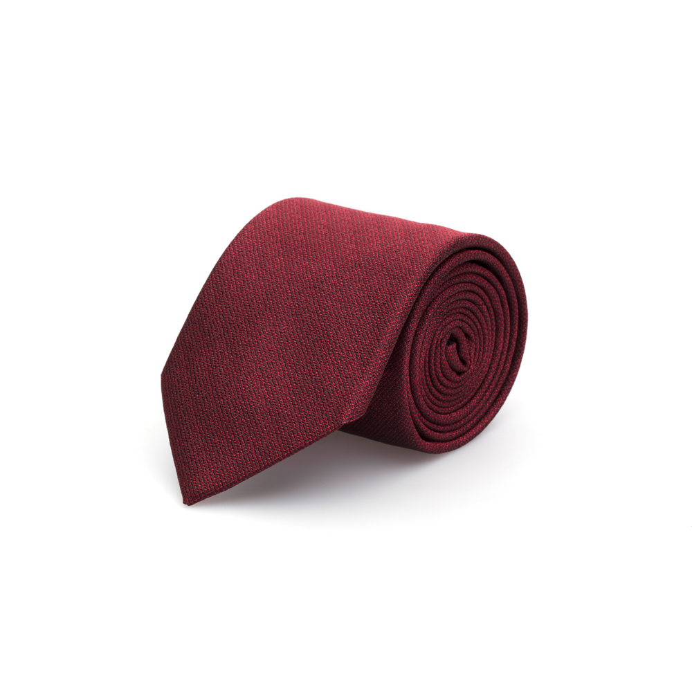 Cerruti Kırmızı Kendinden Desenli Ipek Kravat