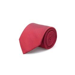 Cerruti - Cerruti Kırmızı Kendinden Desenli Ipek Kravat