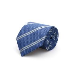 Cerruti - Cerruti Mavi A.Mavi Çizgili Ipek Kravat