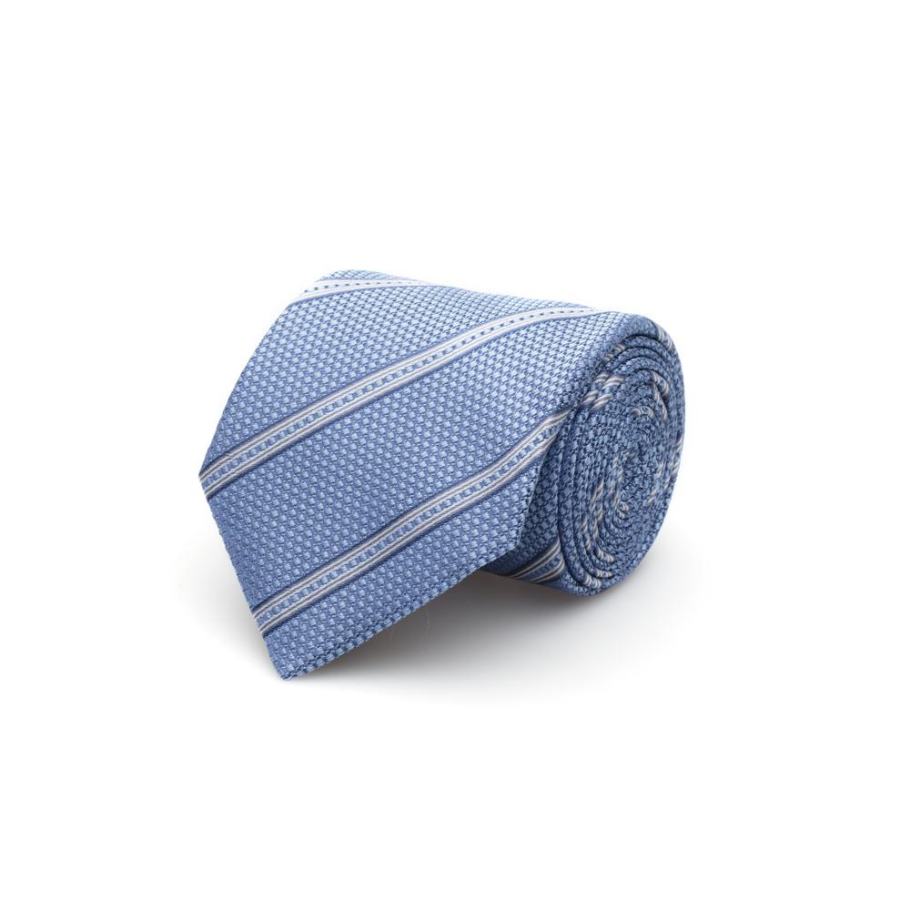 Cerruti Mavi Çizgili Ipek Kravat