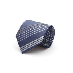 Cerruti - Cerruti Mavi Beyaz Çizgili Ipek Kravat