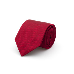 Cerruti - Cerruti Kırmızı Micro Desen Ipek Kravat