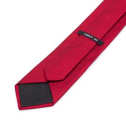 Cerruti - Cerruti Kırmızı Micro Desen Ipek Kravat (1)