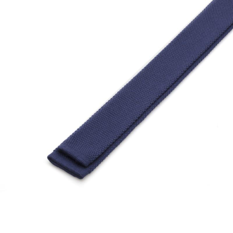 Cerruti - Cerruti Mavi Örme Yün Kravat (1)