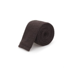Cerruti - Cerruti Kahverengi Örme Yün Kravat