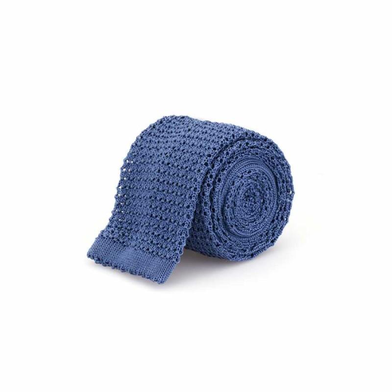 Cerruti - Cerruti Açık Mavi Örgü Ipek Kravat