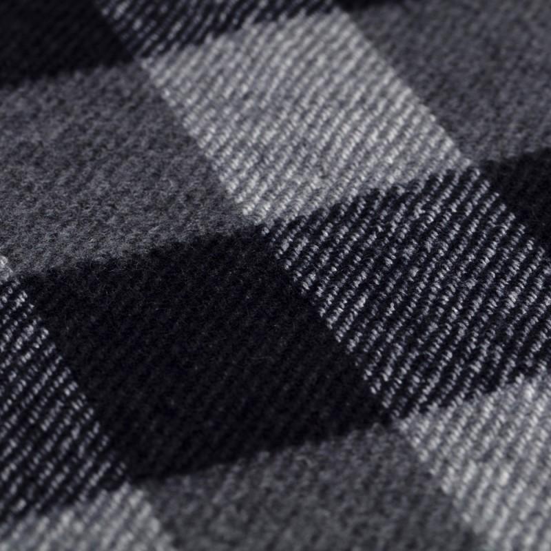 Cerruti - Cerruti Navy Grey Check Wool Scarf (1)