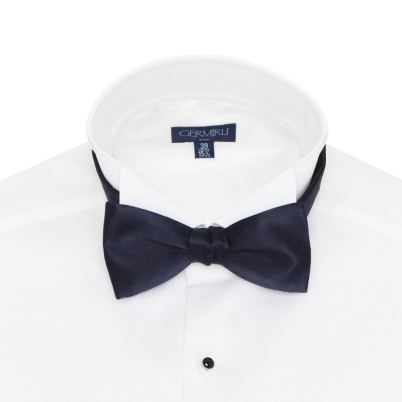 Cerruti - Cerruti Navy Silk Bow Tie