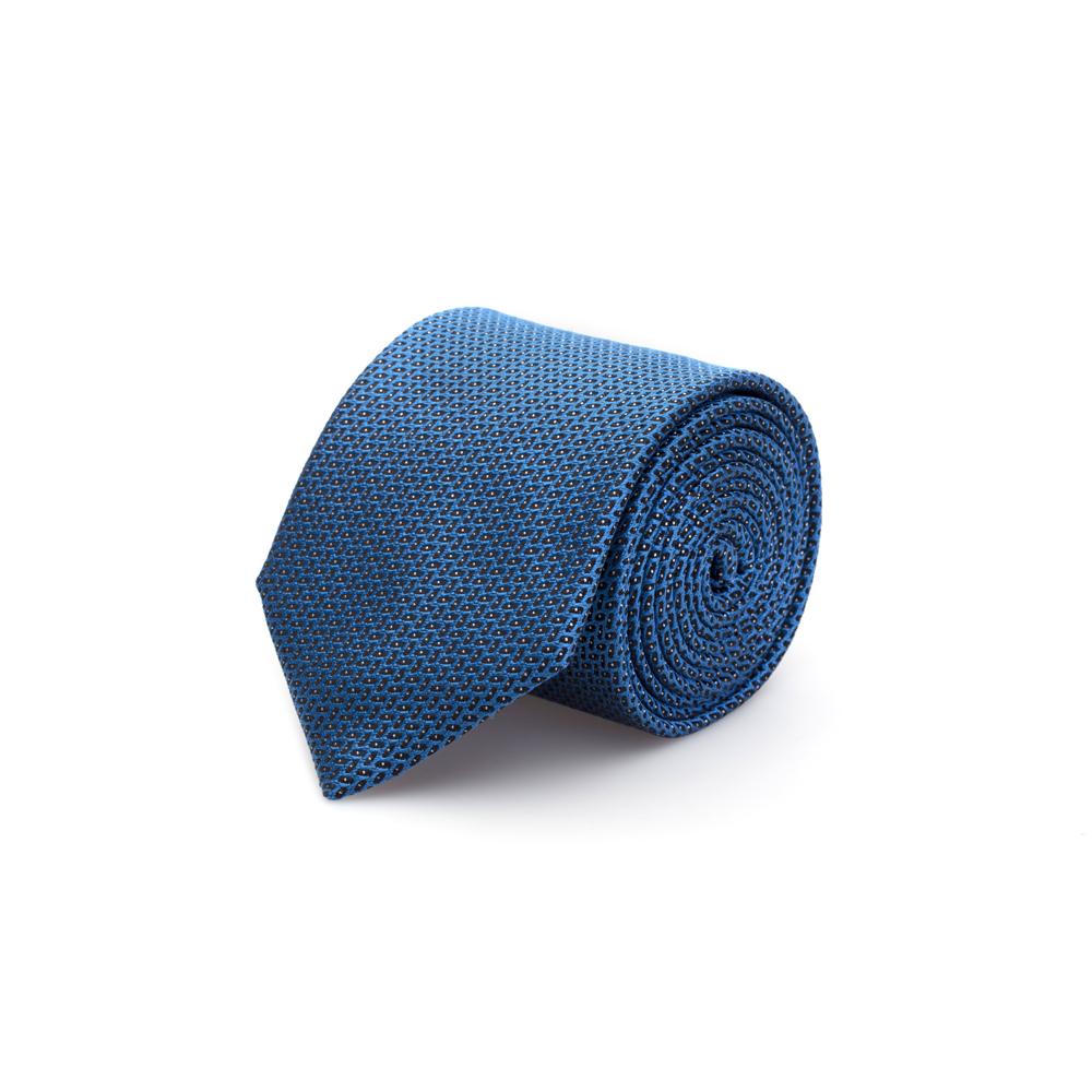 Cerruti Mavi Lacivert Beyaz Noktalı Ipek Kravat