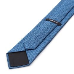 Cerruti - Cerruti Mavi Lacivert Beyaz Noktalı Ipek Kravat (1)