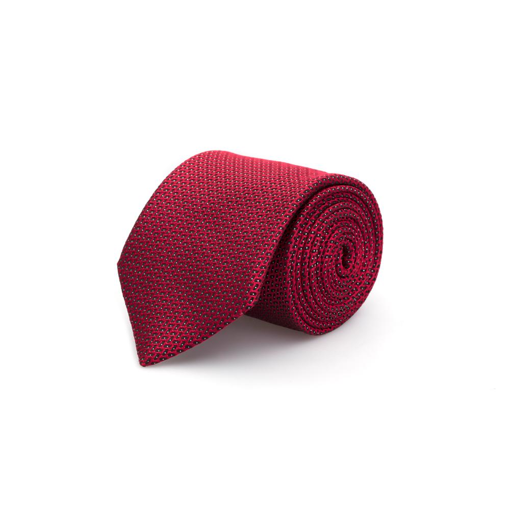 Cerruti - Cerruti Siyah Kırmızı Puanlı Ipek Kravat