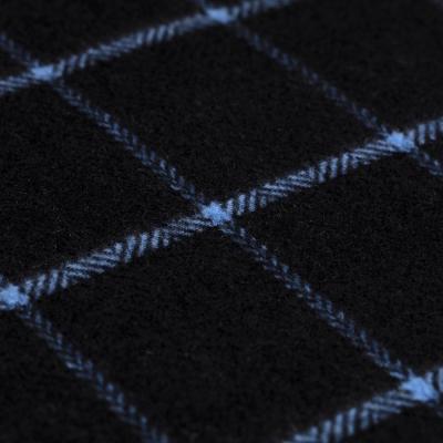 Cerruti - Cerruti Siyah Mavi Kareli Kaşmir Kaşkol (1)