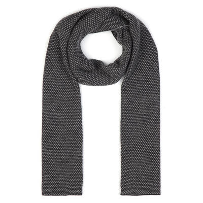 Dante - Dante Antracite Grey Double sided Cashmere Scarf