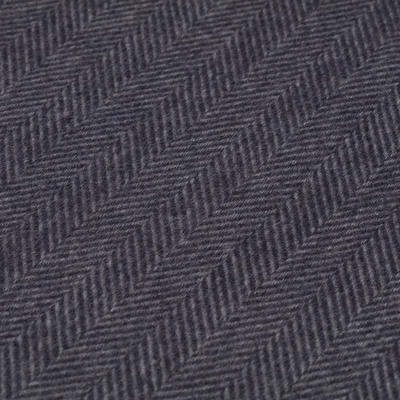Dante - Dante Grey Herringbone Cashmere Scarf (1)