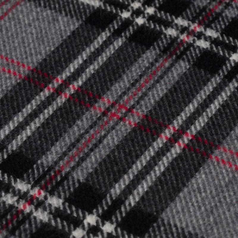 Dante - Dante Grey Check Cashmere Scarf (1)