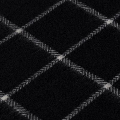Dante - Dante Black Herringbone Check Cashmere Scarf (1)