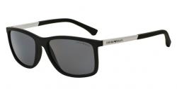 Emporio Armani - Emporio Armani Black Rubber Güneş Gözlüğü