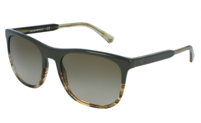Emporio Armani - Emperio Armani Military Striped Honey Sunglasses