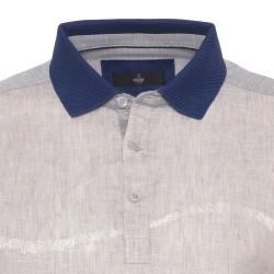 Gallus - Gallus Bej İşlemeli Filodi Scozia Keten Polo T-Shirt (1)