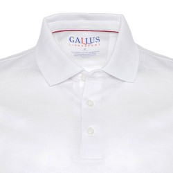 Gallus - Gallus Beyaz Kendinden Desenli Filodi Scozia Polo T-Shirt (1)