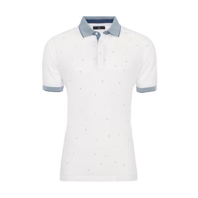 Gallus - Gallus Beyaz Keten Pamuk T-Shirt