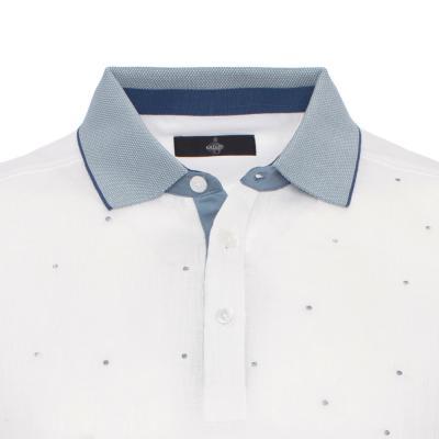 Gallus - Gallus Beyaz Keten Pamuk T-Shirt (1)
