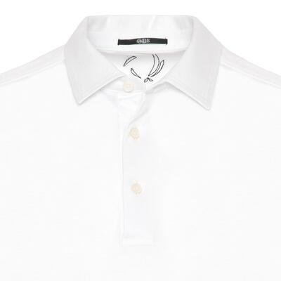 Gallus - Gallus White Mercerized Filo Di Scozia Polo Shirt Collar T-Shirt (1)