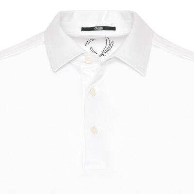 Gallus - Gallus Beyaz Merserize Filo Di Scozia Polo Gömlek Yaka T-Shirt (1)