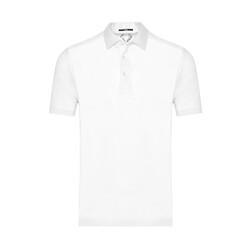 Gallus - Gallus Beyaz Merserize Filo Di Scozia Polo Gömlek Yaka T-Shirt