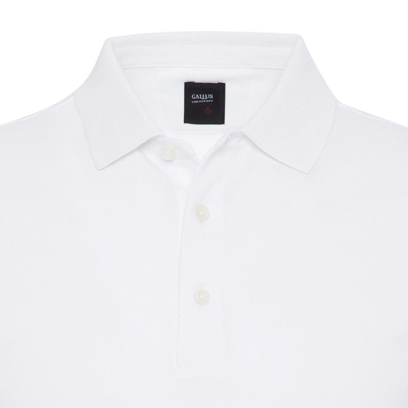 Gallus - Gallus Beyaz Piquet Filo Di Scozia Polo Yaka Tailor Fit T-Shirt (1)