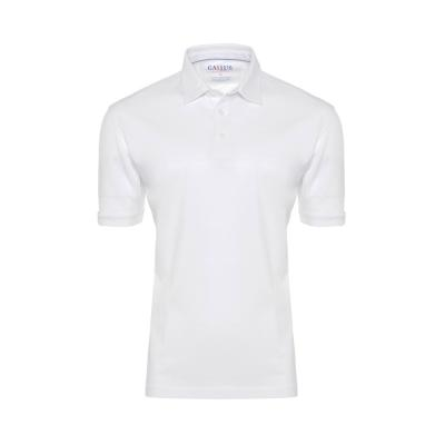 Gallus - Gallus Beyaz Piquet Filodi Scozia Gömlek Yaka Polo T-Shirt